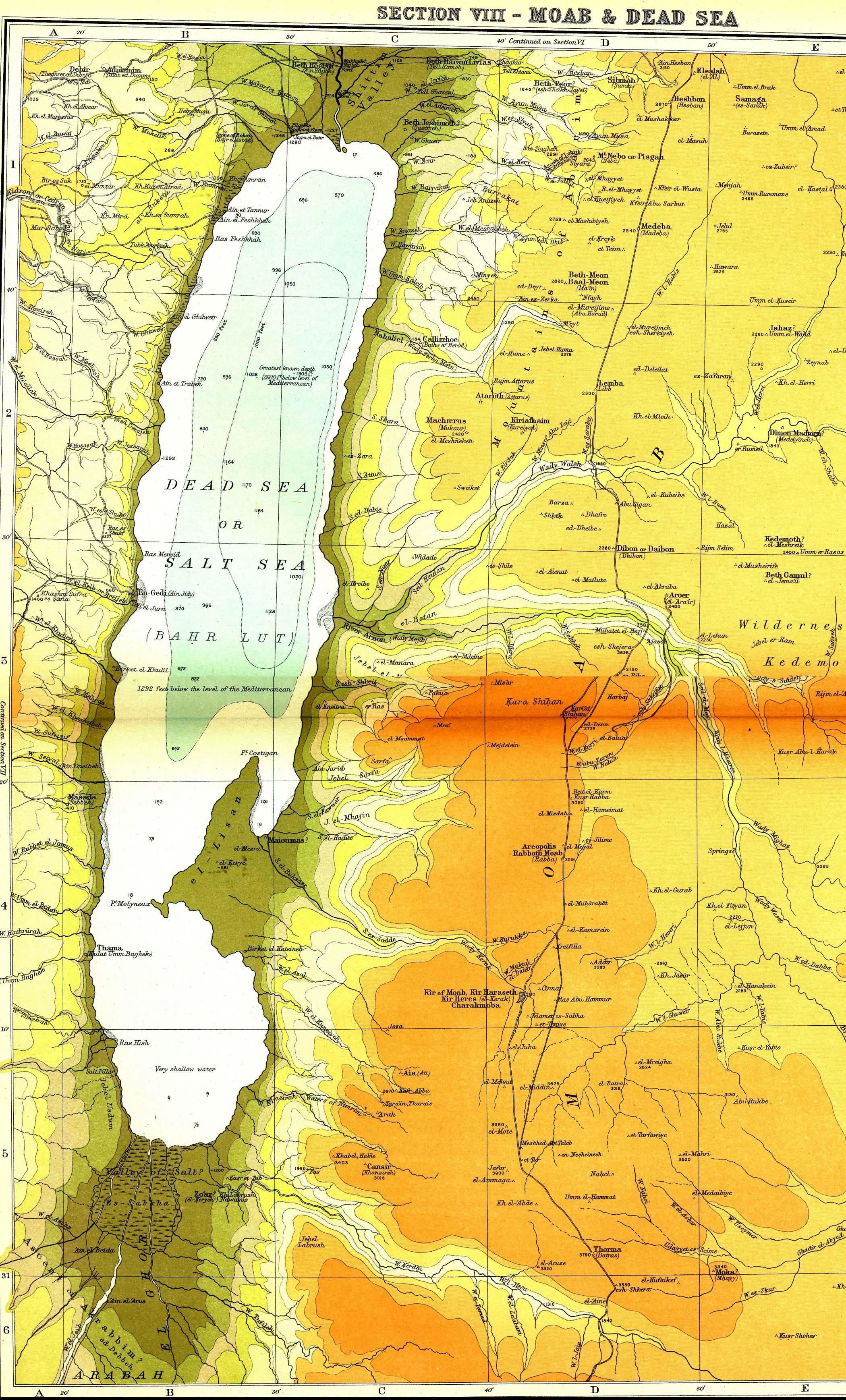 smith bible atlas - the dead sea enlarge