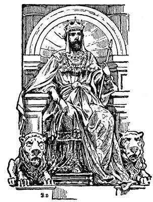 david on the throne coloring pages | The Wonderbook of Bible Stories - Biblesnet.Com