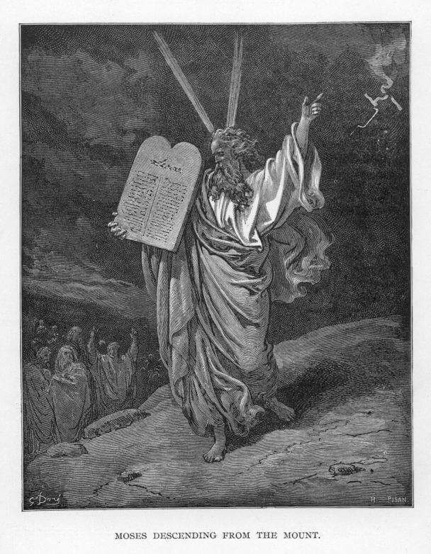 Moses descending from the Mount