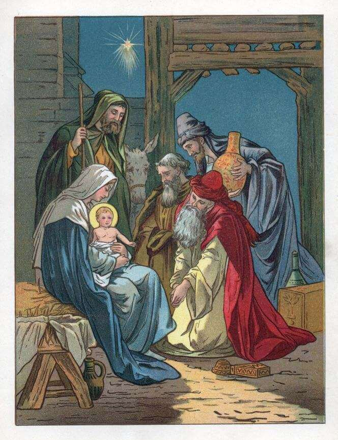 The Holy Child in the manger