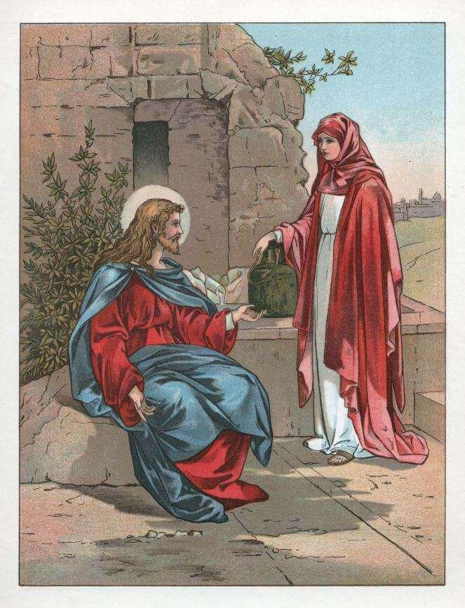 Jesus by the well