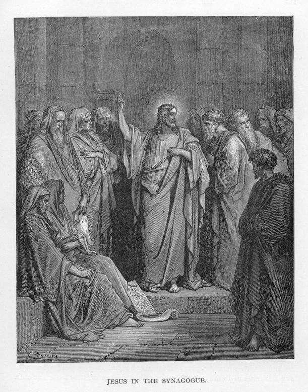 Jesus in the synagogue