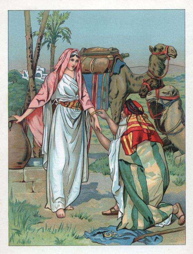 Moses and Zipporah at the well